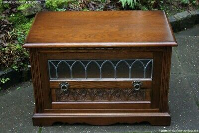 Old Charm Light Oak Tv Hi Fi Stand Table Cd Dvd Satellite Storage Media Cabinet