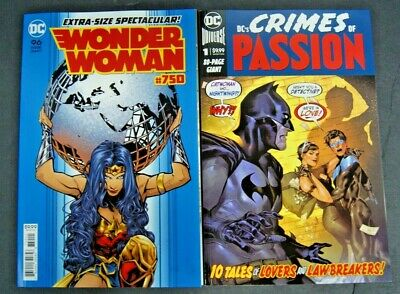 Dc Wonder Woman # 750 And Dc's Crimes Of Passion # 1 Two Book Lot