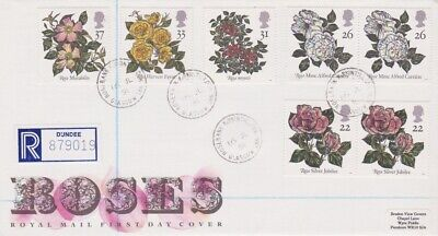 Gb Stamps First Day Cover 1991 Roses Rosebank Cds Rares Collection