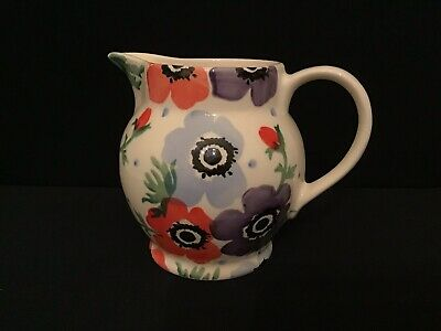 Emma Bridgewater Half Pint Anemone Jug Made Exclusively For Liberty Of London