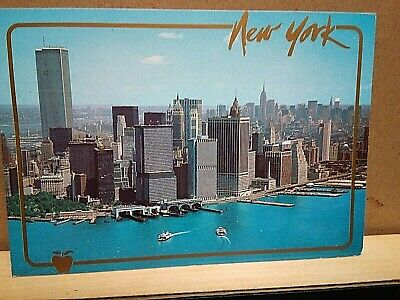 NEW YORK CITY Twin Towers ARROW NOVELTY printed in Italy $.19 deer stamp 1993