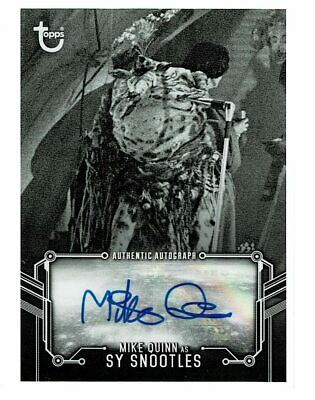 Topps Star Wars Black & White Mike Quinn Sy Snootles AUTO Autograph (KD)