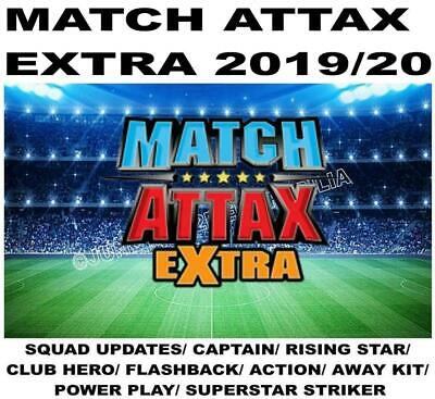 Match Attax Extra 2019/20 19/20 Squad Update/ Captain/ Rising Star - All Base