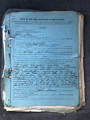 1929 Brooklyn/Creedmoor State Hospital Insane Asylum Patient File Lunatic NYC