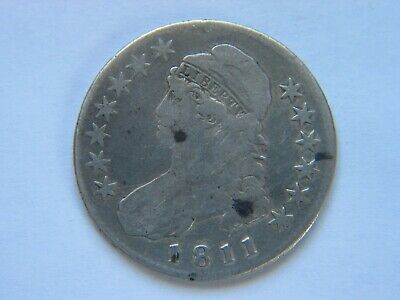 1811 Capped Bust Silver Half Dollar Nice Circulated coin