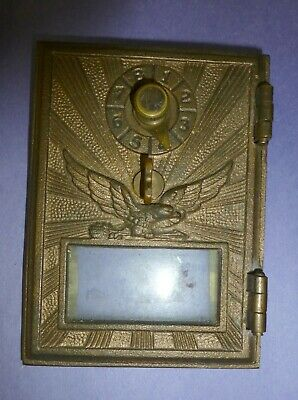 Antique Post Office Box Door - Eagle Brass 3-1/2 x 5