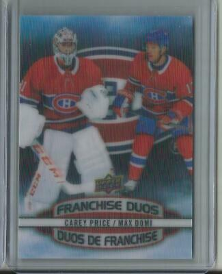 2019-20 Carey Price Ud Tim Hortons Franchise Duos Card # D-3