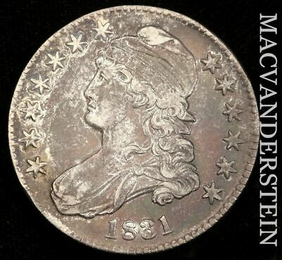 1831 Capped Bust Half Dollar - Choice  Almost Uncirculated!!  Color!!  #H6669