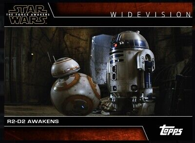 Topps Star Wars Digital Card Trader The Force Awakens Widevision: R2-D2 Awakens