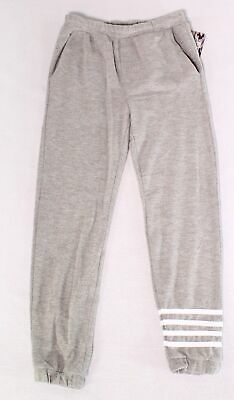 Chaser Girls Pants Light Gray Size 8 Stretch Pull-On Jogger Striped $30- 728