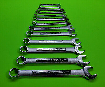 Craftsman 13 Piece Metric Combination Wrench Set 12 Point 7mm to 19mm