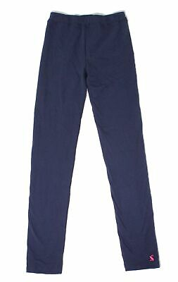 Joules Girl's Leggings Blue Size 11 - 12 Stretch Pull On Elastic-Band 455