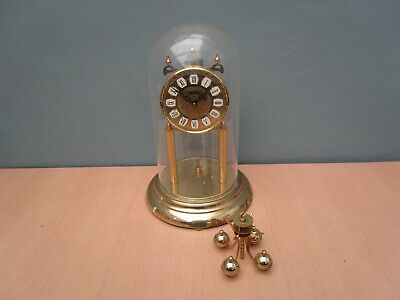 Large Haller Wind Up Anniversary Clock With Plastic Dome - No Key