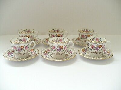 6 X Spode China Coffee Cup & Saucers Lauriston Coffee Cups & Saucers