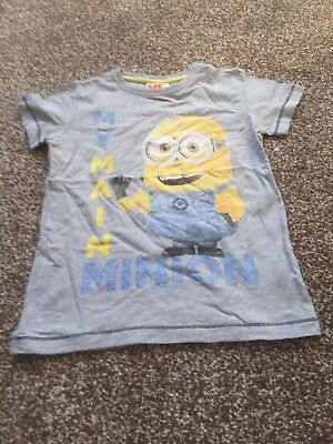 Next Boys Minion T-shirt Age 4-5 Years Fab Desig