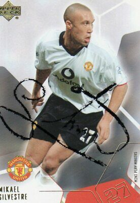 Mikael Silvestre Autograph , Manchester United, Football,Soccer