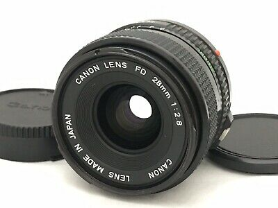 Canon New FD 28mm f/2.8 NFD MF Wide Angle Lens FD-Mount From Japan [MINT]#340440