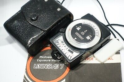 Leningrad 7 Exposure Light meter, comes with case, suitable for vintage camera