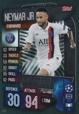 Match Attax EXTRA 2019/20 19/20 #LE1S Neymar Jr (Paris St-Germain) SILVER LE
