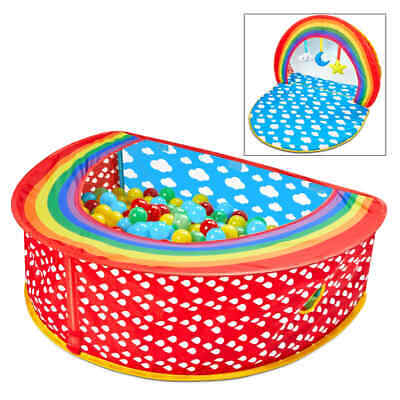 Worlds Apart 2-in-1 Pop-up Ball Pit Rainbow 100x76x30cm Multicolour Baby Toys#