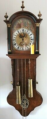 Christiaan Huygens Friese Clock Dutch Chain Driven Moonphase Bim Bam 1974