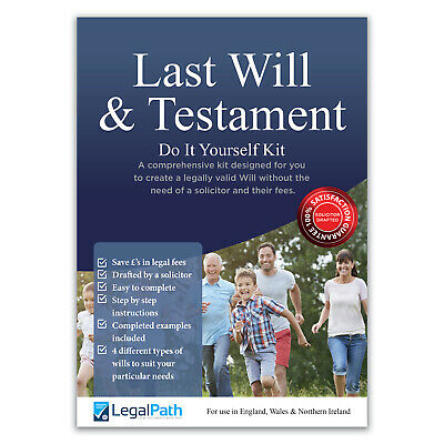 Last Will and Testament (DIY Will Writing Kit) by LegalPath™ - 2020 Edition.