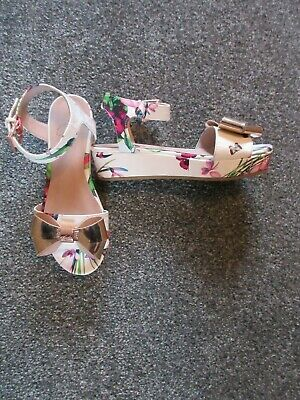 Girls Ted Baker Sandals Size 32 Uk 13 Fab Condition