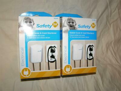 Safety 1st Outlet Plug & Adapter Cover w/ Cord Shortener & Dual Release Lot of 2