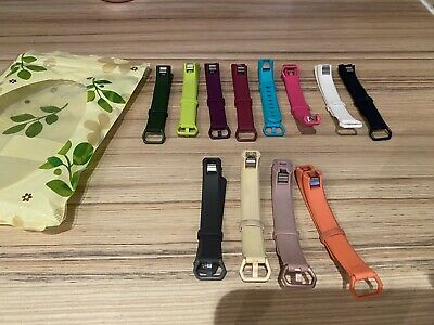 Changeable Straps (Small) For Fitbit Alta HR - x12 Multi Coloured