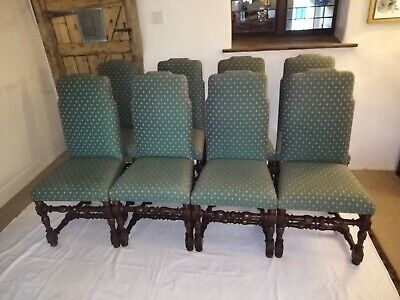 Fabulous set of 8 Titchmarch & Goodwin Fabric Upholstered Dining Chairs