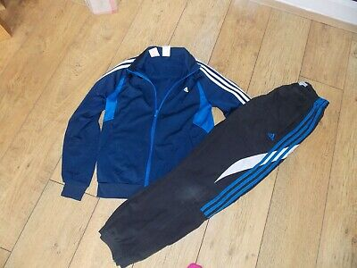 Boys Adidas Tracksuit Top Joggers Age 13-14 Years