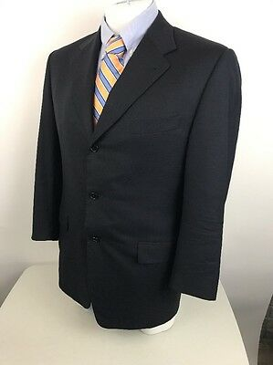 CANALI PROPOSTA Mens Navy Wool Suit Sport Jacket Italy 52R US 42R (D69)