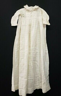 Antique Vintage Christening Baptism Gown Lace Baby Doll Dress Victorian Era
