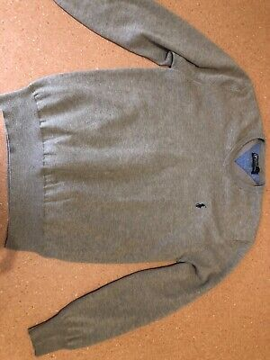 Polo by Ralph Lauren mens neutral brown wool mix fine knit jumper Size L large