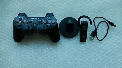 PlayStation 3 PS3 DUAL-SHOCK SIXAXIS WIRELESS CONTROLLER + OFFICIAL SONY Headset
