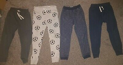 Boys Age 8-9 Years Clothes Bundle 4 Pairs Joggers Trousers H&M Next