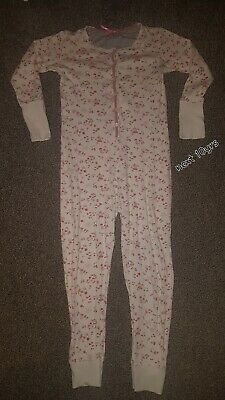 NEXT girls pink floral onesie (not Gerber) pyjama all in one size age 10 years