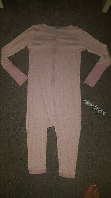 NEXT Girls Pink floral Onesie (Not By Gerber) pyjamas all in one Age 13 Years