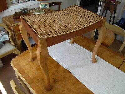 PIANO STOOL / FOOTREST ** woven cane / rattan seat **