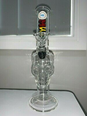 Clear Skull Glass Bong Hookah Water Pipe 26cm FREE SHIPPING MWP Quality Pyrex