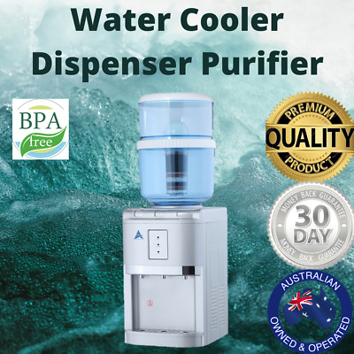 Water Cooler Dispenser Purifier Bench Top 20L Bottle Hot Cold Ambient Tap Office
