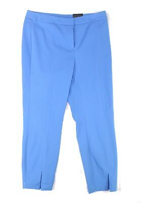 Alfani Womens Pants Blue Size 14 Comfort-Waist Ankle Cropped Stretch $69 288