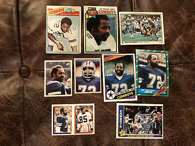 "(9) ED ""TOO TALL"" JONES - COWBOYS Card Lot - ALL DIFFERENT - 1977 1979 81 83 86"