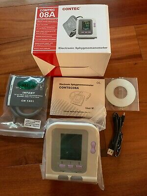 CONTEC 08A digital Electronic color LCD Blood pressure monitor NIB Infant cuff