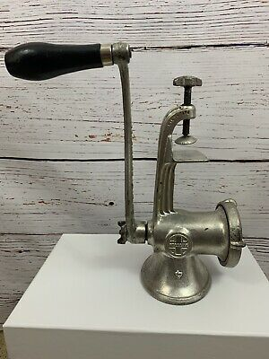 Vtg Cast Iron Griswold Meat Grinder No. 4 hand sausage grinder antique tool
