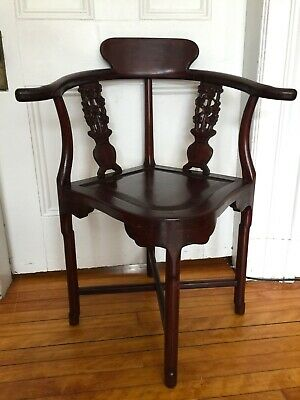 Antique Chinese Rosewood Corner Chair