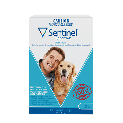6 Pack - Sentinel Spectrum Tasty Chews For Large Dogs 22 To 45Kg (FreeShipping)