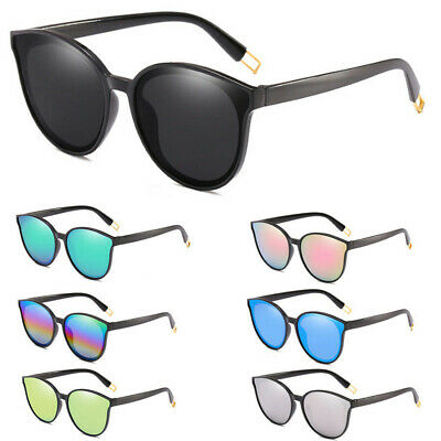 New Fashion Oversized Women Sunglasses Cat Eye Flat UV400 Eyewear Mirror Square