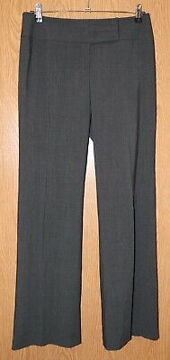 Womens Charcoal Gray Tribal Flat Front Dress Pants Size 8 excellent
