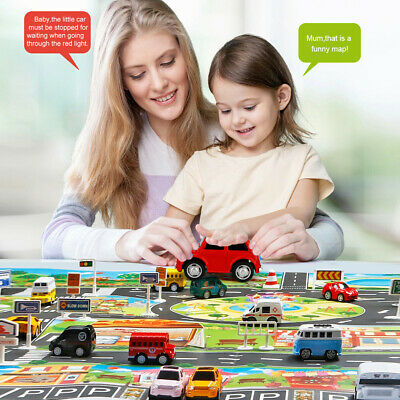 Kids House Traffic Road Signs Car City Scene Baby Play Mat Carpet Gifts Toy AU
